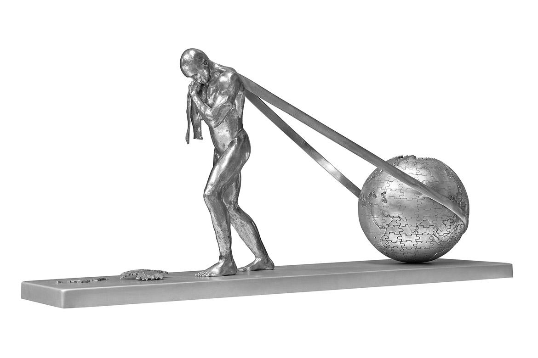 Will Power, Aluminium - Sculptures - Lorenzo Quinn
