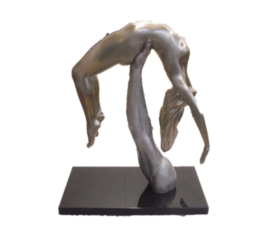 I Will Catch You If You Fall, White Bronze and Aluminium - Sculptures - Lorenzo Quinn