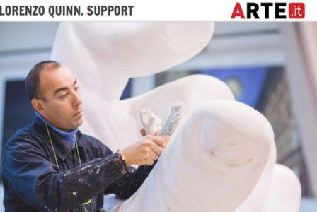 Arte.it - Venice Biennale - Lorenzo Quinn - Press - May 2017