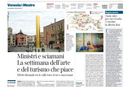Corriere del Veneto - Venice Biennale - Lorenzo Quinn - Press - May 2017