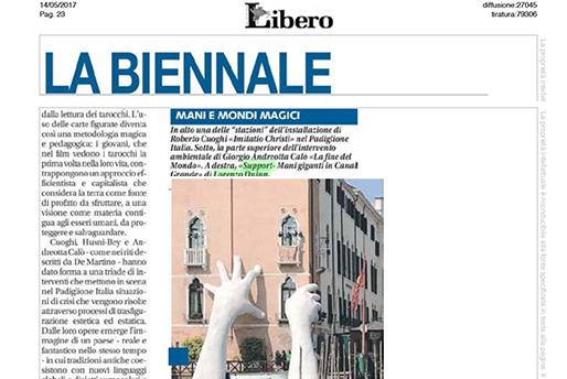 Libero - Venice Biennale - Lorenzo Quinn - Press - May 2017