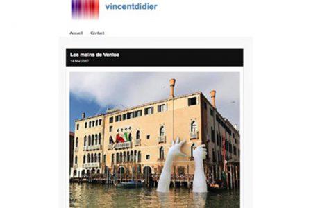 Vincentdidier.net - Venice Biennale - Lorenzo Quinn - Press - May 2017