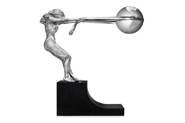 La Fuerza de la Naturaleza, Aluminio 180cm - Esculturas - Lorenzo Quinn