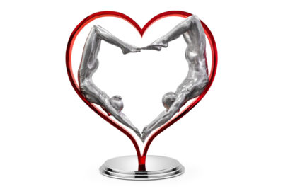 Falling in Love, Aluminium and Stainless Steel - Sculptures - Lorenzo Quinn
