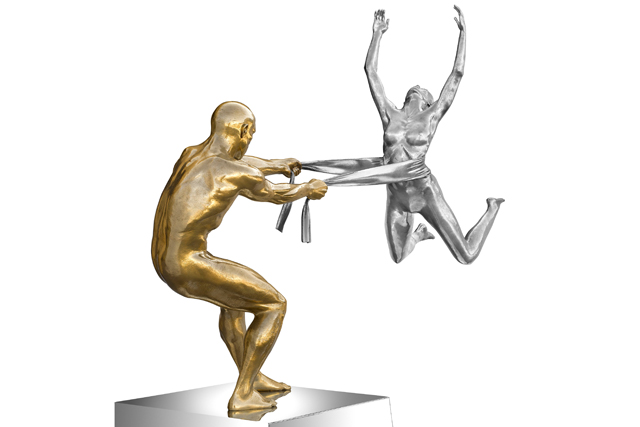 Force of Love, Bronze, Aluminium and Stainless Steel - Sculptures - Lorenzo Quinn