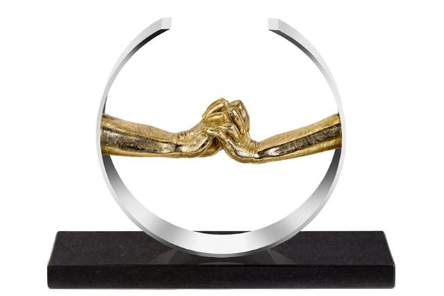 Durante el Amor, Bronce y Acero Inoxidable - Esculturas - Lorenzo Quinn