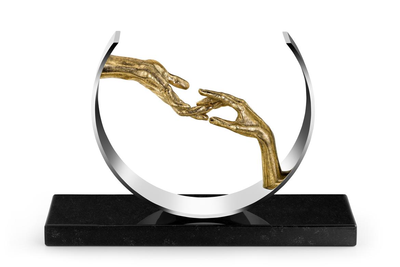 Finding Love, Bronze and Inox - Sculptures - Lorenzo Quinn