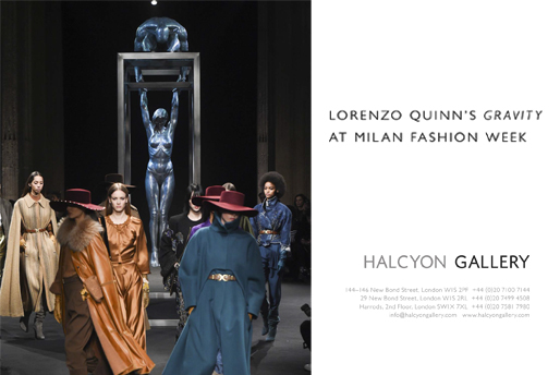 Gravity at Milan Fashion Week 2018 - Lorenzo Quinn Press