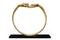 Finding Love, Ring - Polished Bronze - Sculptures - Lorenzo Quinn