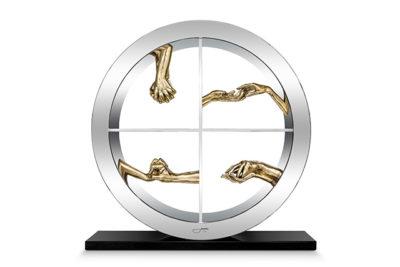Círculo del Amor - Bronce Pulido - 60cm - Esculturas - Lorenzo Quinn