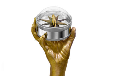 The Moral Compass, Bronze and Stainless Steel - Sculptures - Lorenzo Quinn