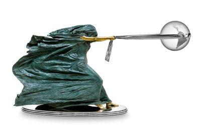 La Fuerza de la Naturaleza II, 120cm, Bronce y Acero Inoxidable - Esculturas - Lorenzo Quinn