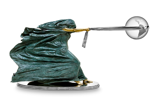 The Force of Nature II, 120cm, Bronze and Stainless Steel - Sculptures - Lorenzo Quinn