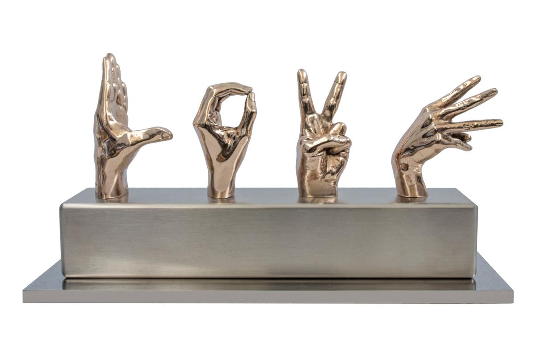Acciones Dicen Más Que Palabras, Mix, Bronce y Acero Inoxidable - Esculturas - Lorenzo Quinn