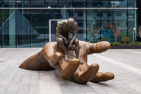Hand of God, Patinated Bronze - Shanghai - Installations and Commissions - Lorenzo Quinn