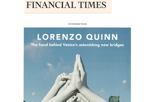 Financial Times - Building Bridges - Lorenzo Quinn - Press - May 2019