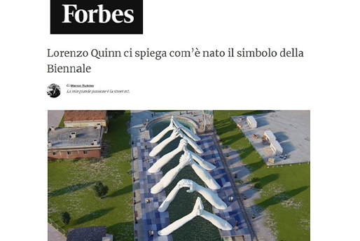 Forbes - Building Bridges - Lorenzo Quinn - Press - May 2019