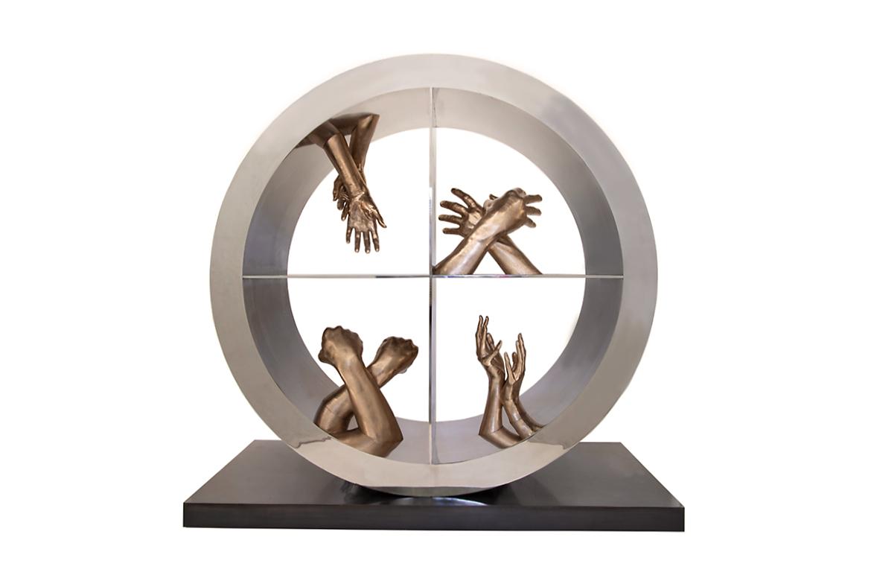 Cuatro Elementos, Bronce - Esculturas - Lorenzo Quinn
