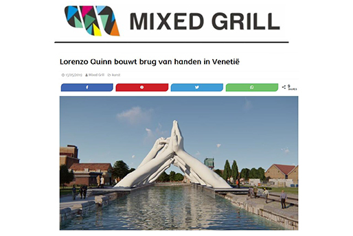 Mixed Grill - Building Bridges - Lorenzo Quinn - Press - May 2019