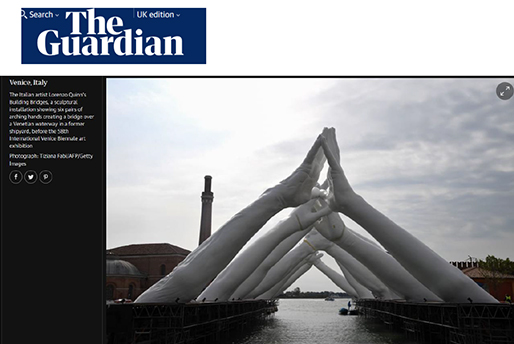The Guardian - Building Bridges - Lorenzo Quinn - Press - May 2019