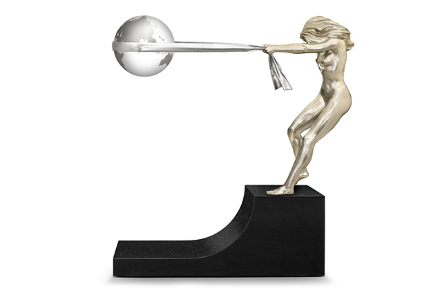 The Force of Nature, White Bronze - Sculptures - Lorenzo Quinn
