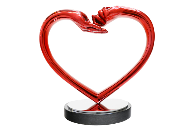 Dando y Recibiendo Amor, Acero Inoxidable Rojo - Esculturas - Lorenzo Quinn