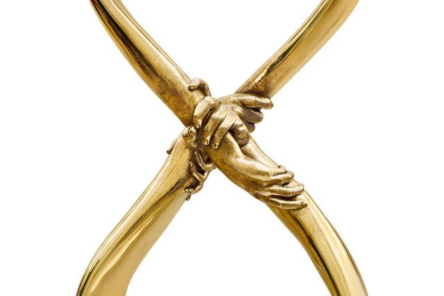 Infinite Love - Polished bronze - Sculptures - Lorenzo Quinn