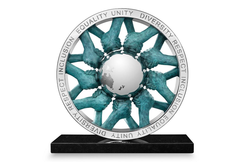 Unidad - Bronce Patinado - Esculturas - Lorenzo Quinn