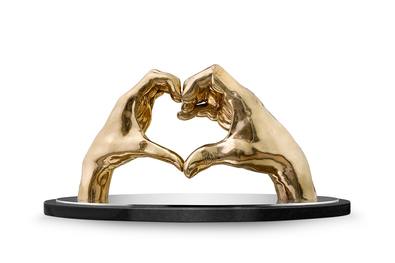 Joining Hearts, Bronze - Sculptures - Lorenzo Quinn
