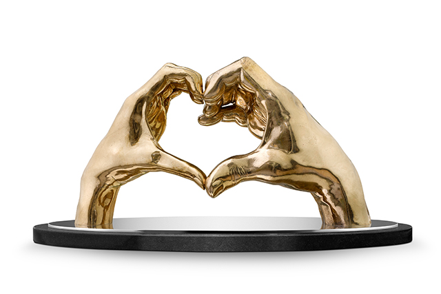 Joining Hearts, Bronze - Sculptures - Lorenzo Quinn