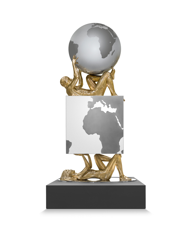Pressure Male-Female, Bronze - Sculptures - Lorenzo Quinn